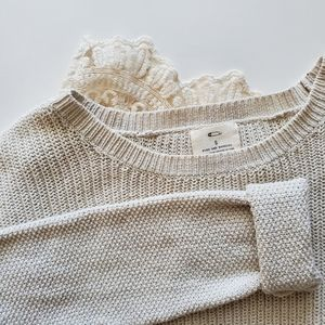 Pins and Needles Lace Trim Sweater